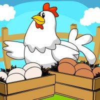 A cor dos ovos da galinha