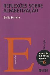 """capa do livro """"Reflexões sobre alfabetização"""""""