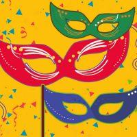 Faça sua máscara de Carnaval